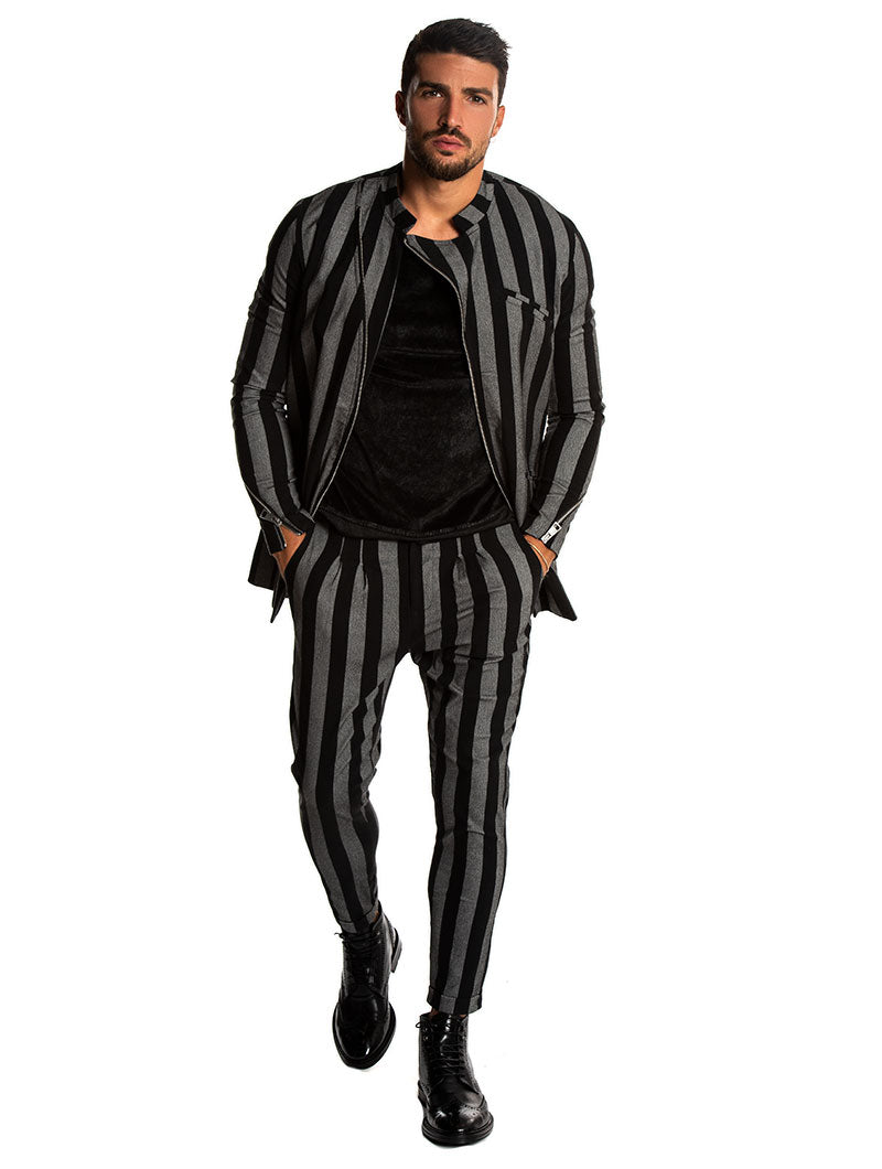ASYLUM SUIT IN BLACK AND GREY