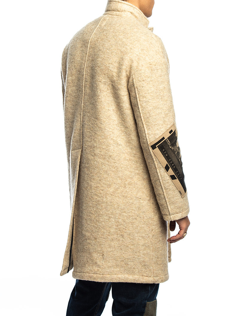 DANNIE PATCHED COAT IN BEIGE