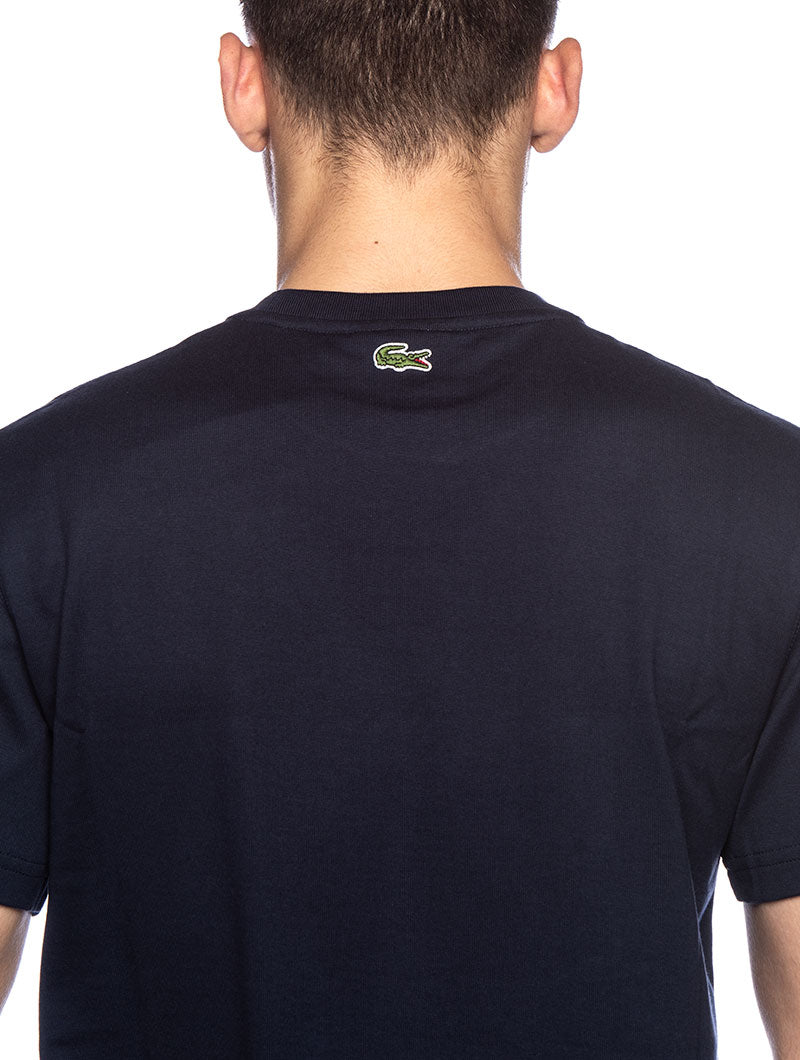LACOSTE BASIC LOGO T-SHIRT IN BLUE