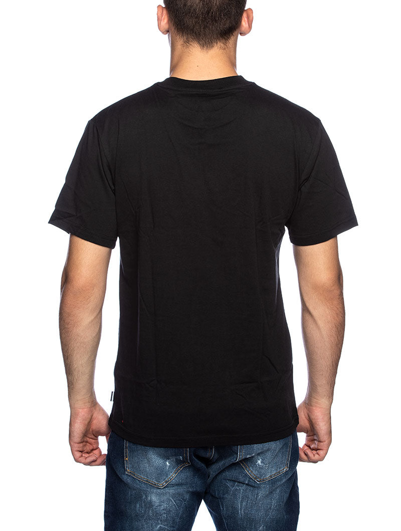 BB FLRL FILL TEE PRINTED T-SHIRT IN BLACK