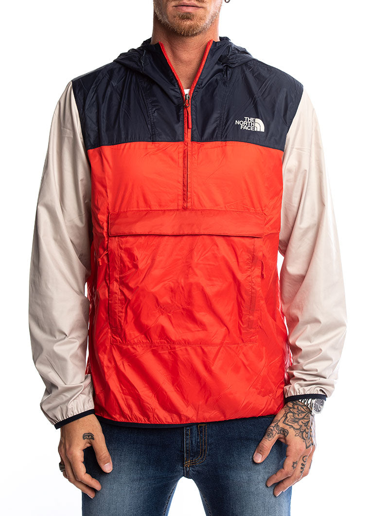 FANORAK WATERPROOF JACKET IN BLUE AND RED