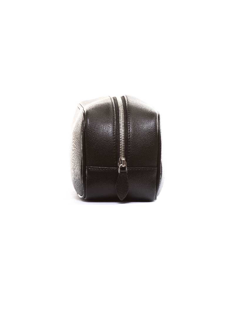 MAN LEATHER BEAUTY CASE IN BLACK