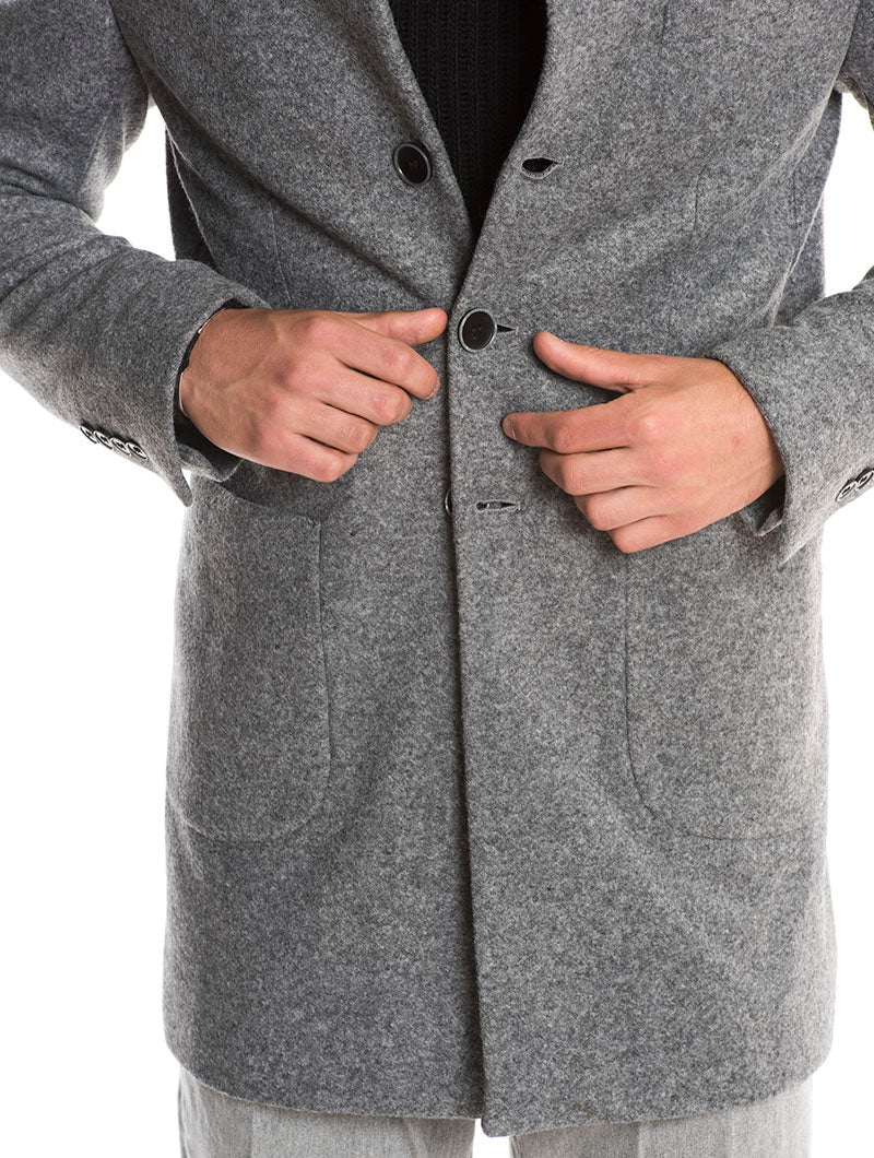 NEHRU COAT IN LIGHT GREY