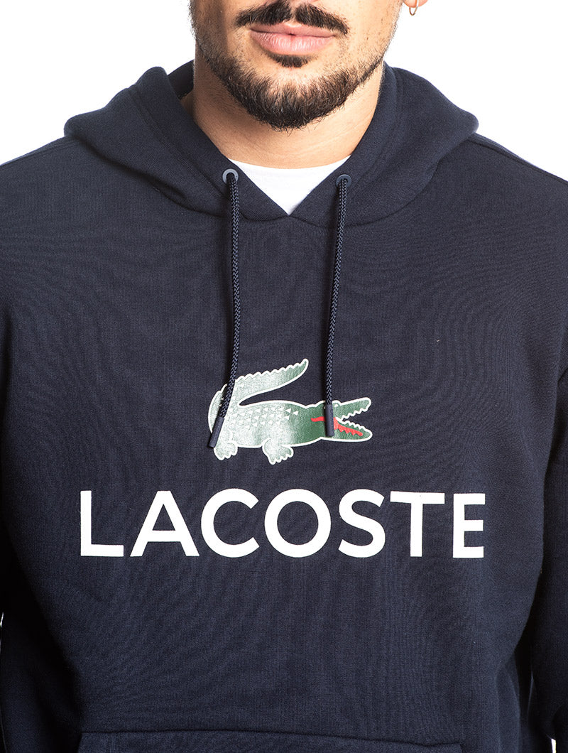 LACOSTE HOODIES SWEATSHIRT IN BLUE
