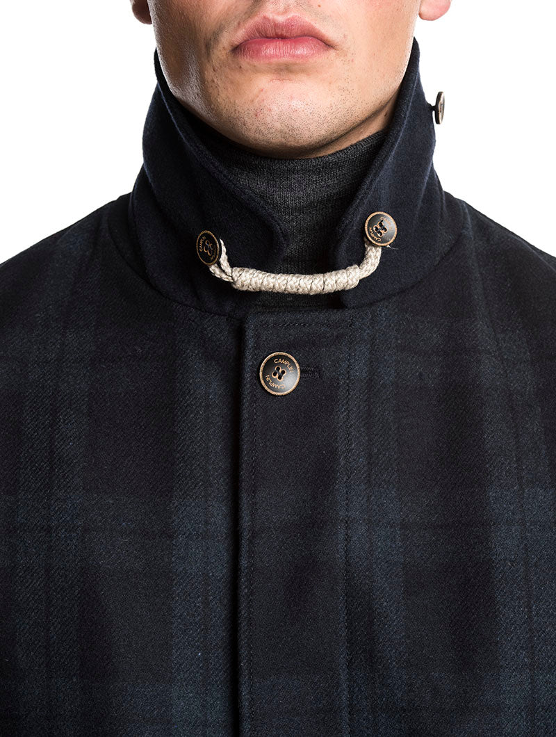 CAMPLIN PEACOAT IN BLUE NAVY
