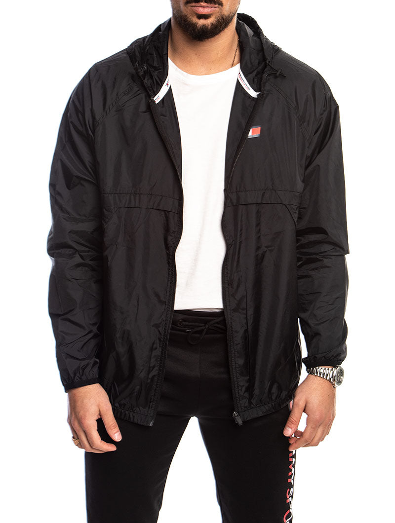 TOMMY SPORT WINDBREAKER FULL ZIP 24 IN BLACK MULTI