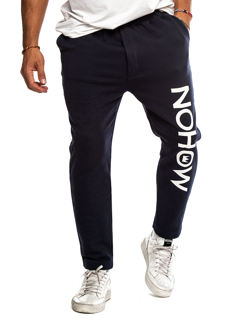 NOHOW LOGO SWEATPANTS IN BLUE