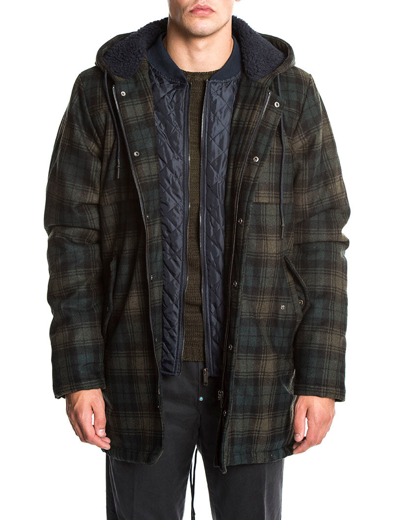 LUKE PARKA IN MILITARY GREEN