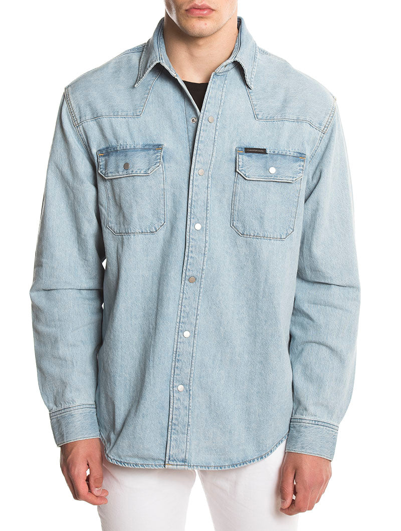 ARCHIVE WESTERN SHIRT IN BLUE RGD