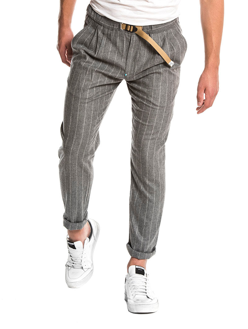 WHITE SAND 033 CASUAL PANTS IN GREY