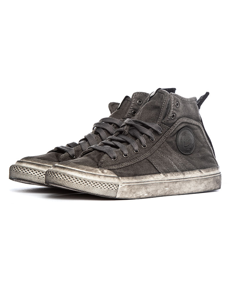 S-ASTICO MID LACE SNEAKERS IN GREY