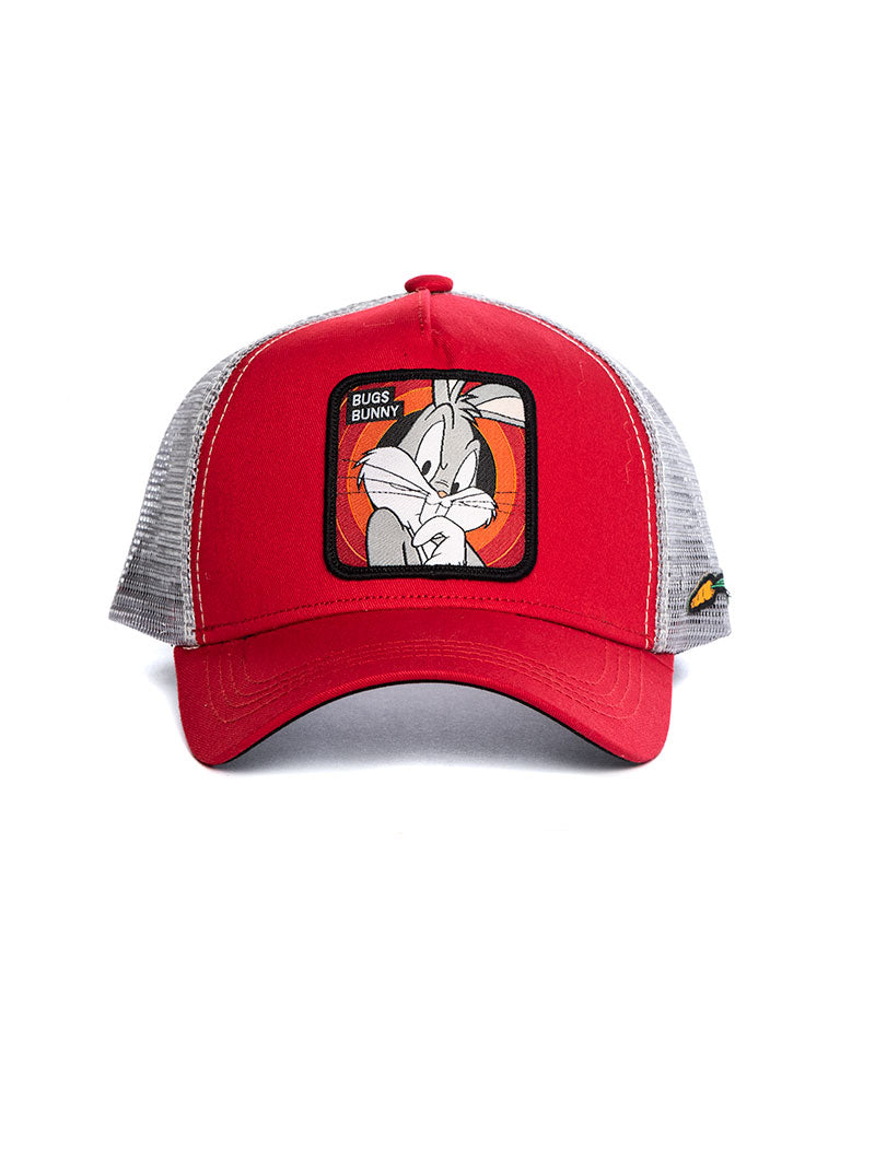 BUGS BUNNY CAP IN RED AND SILVER