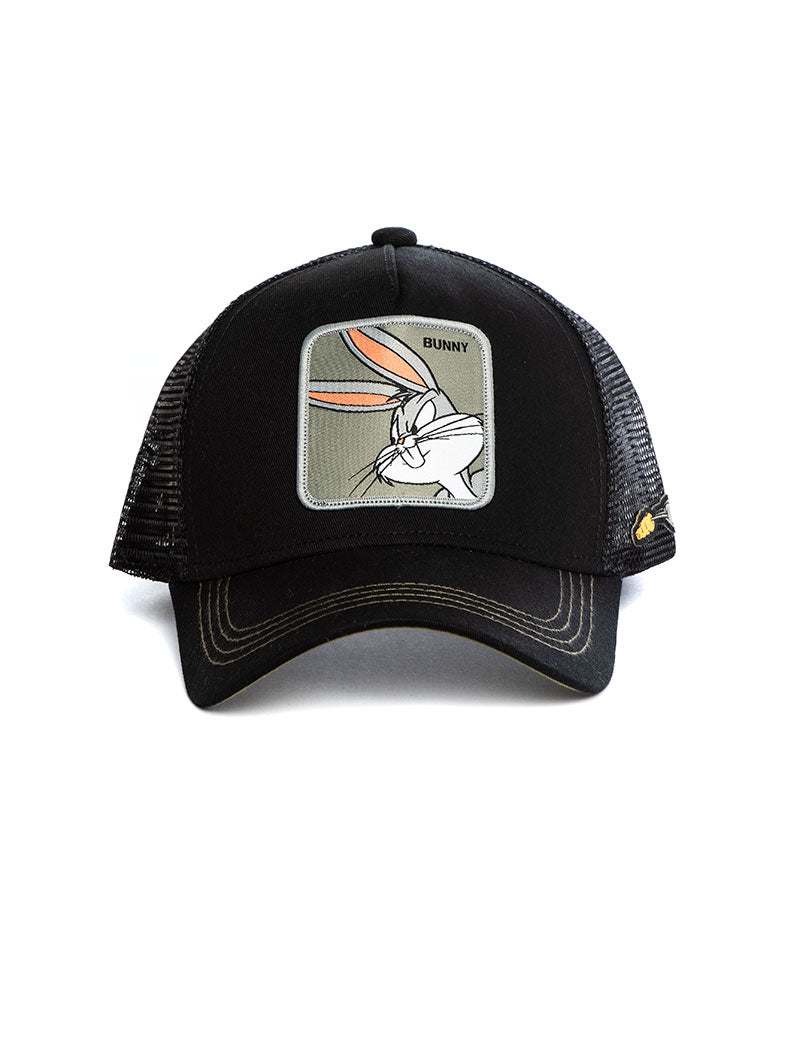 BUNNY CAP IN BLACK AND GREEN