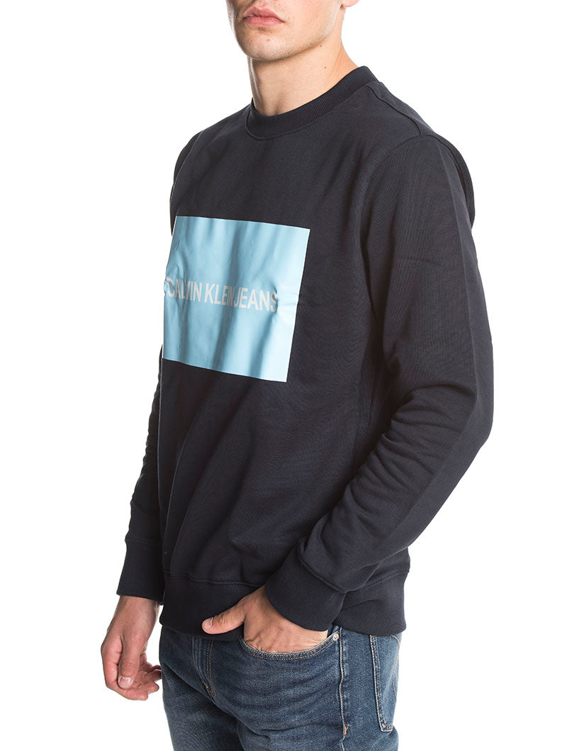 INSTITUTIONAL BOX SWEATSHIRT IN NIGHT SKY