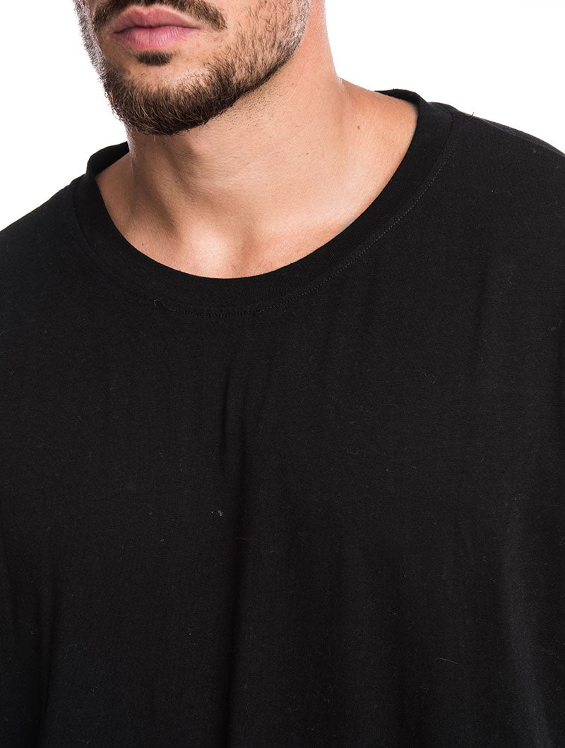 MEN'S CLOTHING | BOSTON OVER T-SHIRT IN BLACK | RELAXED FIT | NOHOW