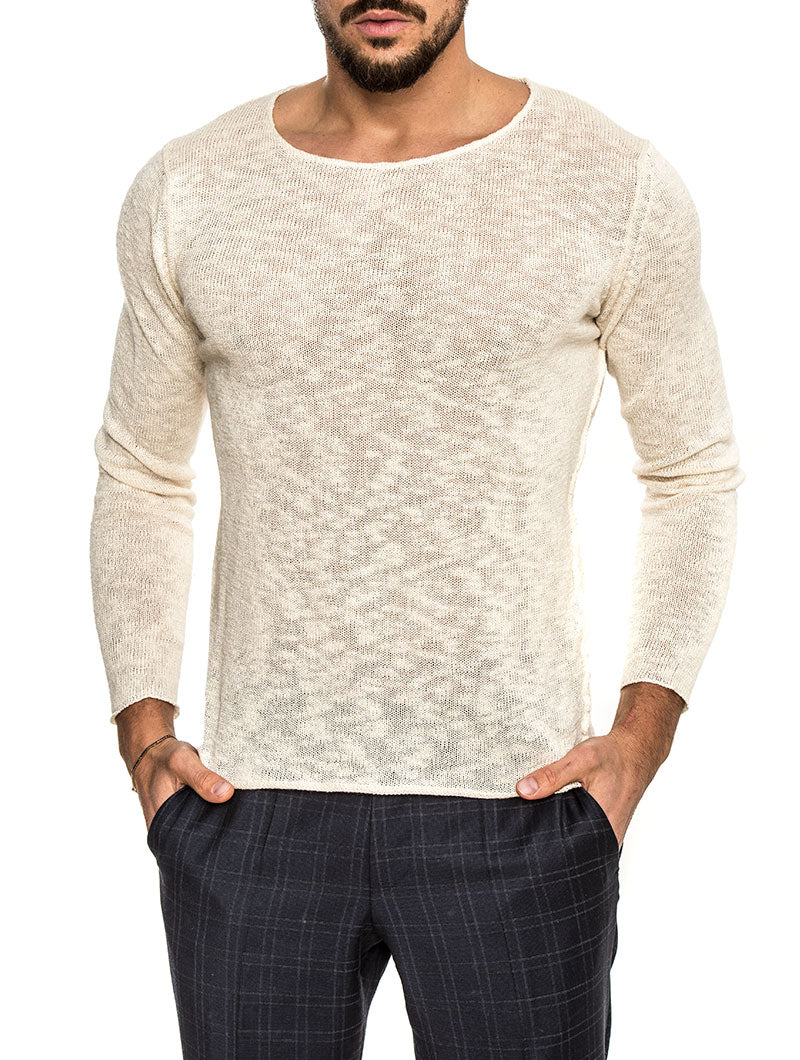 KUMASI COTTON SWEATER IN CREAM