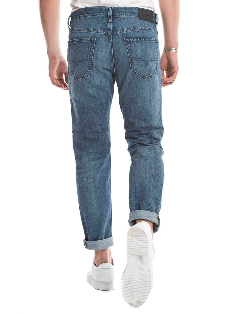MHARKY L.32 DIESEL JEANS IN BLUE DENIM
