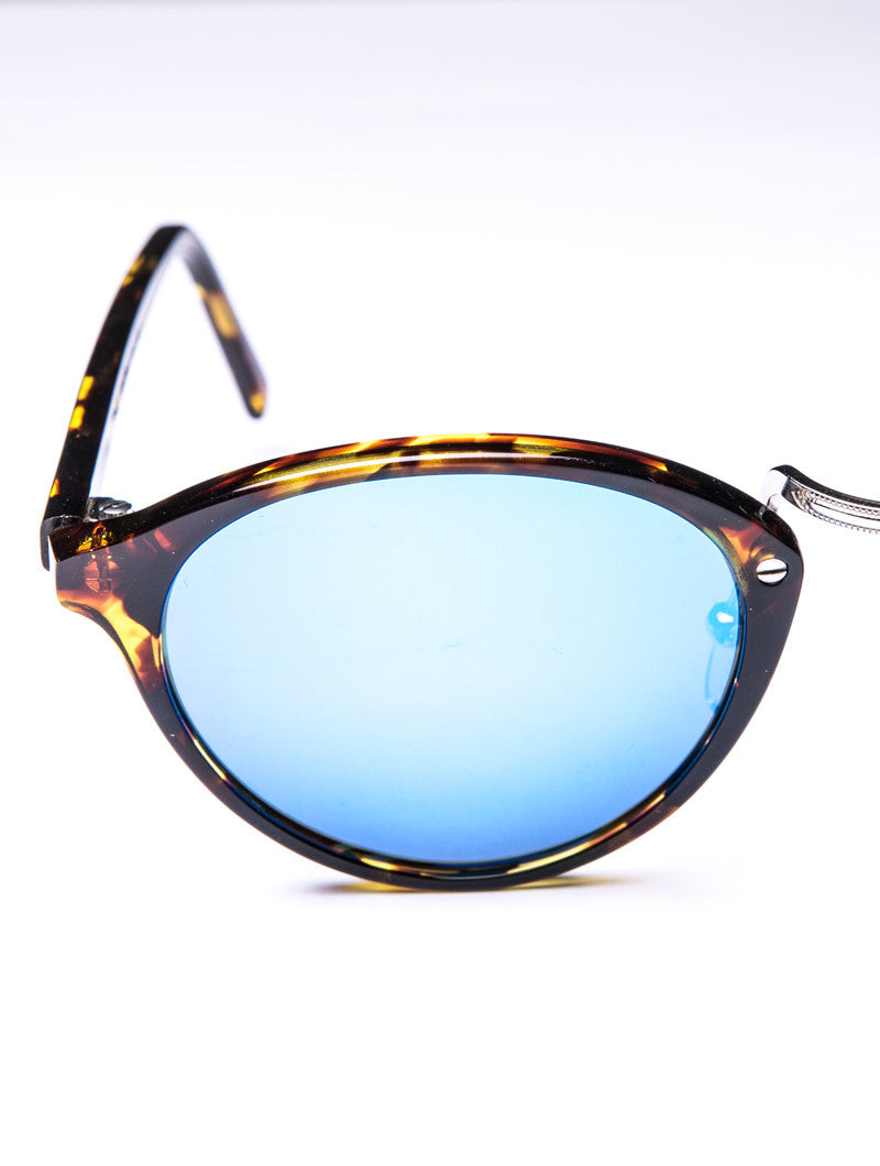AUDACIA BLUE MIRROR SUNGLASSES