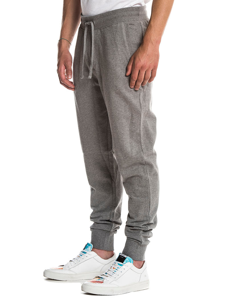 MONOGRAM LOGO SWEATPANTS IN HEATHER GREY