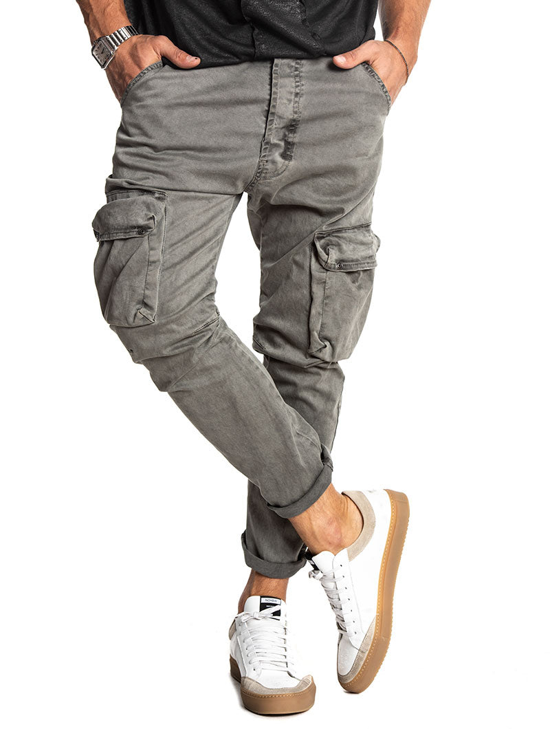 AMOS CARGO PANTS IN GREY