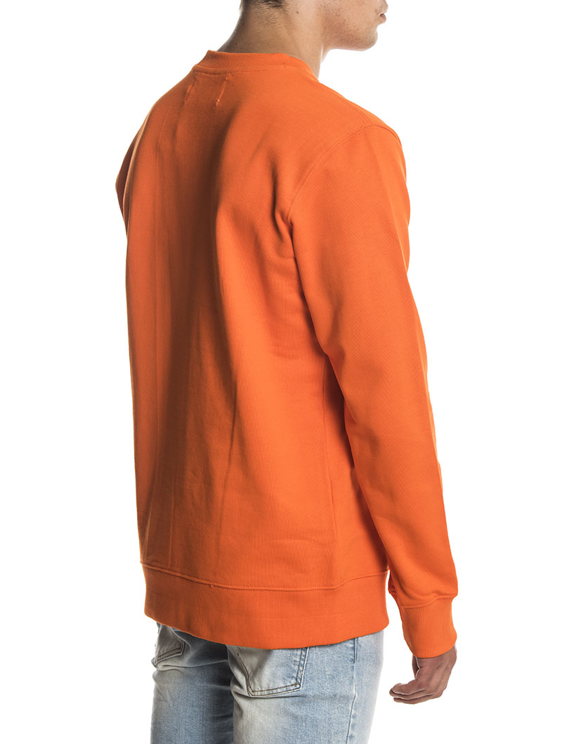 INSTITUTIONAL BOX SWEATSHIRT IN ORANGE TIGER