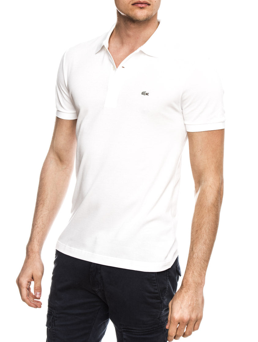 LACOSTE POLO IN WHITE