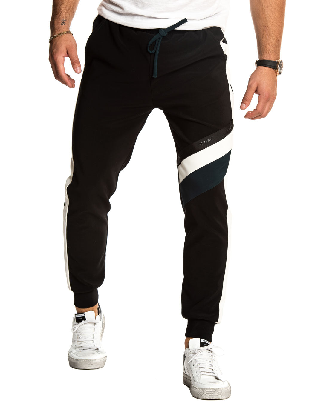 FINNEAS TRACK PANTS IN BLACK