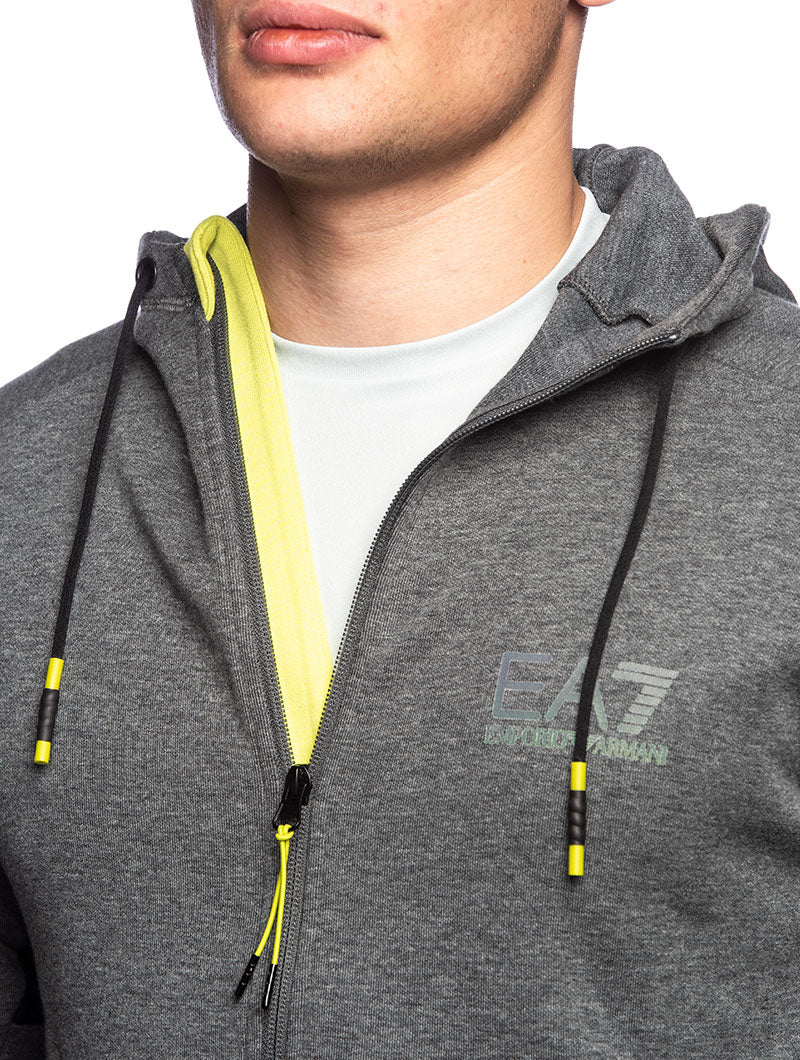 EA7 ZIP SWEATSHIRT IN GREY