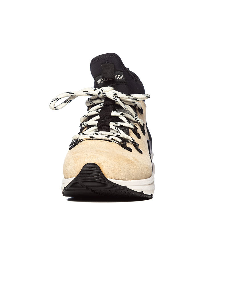 2 IN 1 WOOL CHECK HIKER IN CHAMOIS WHITE BUFFALO