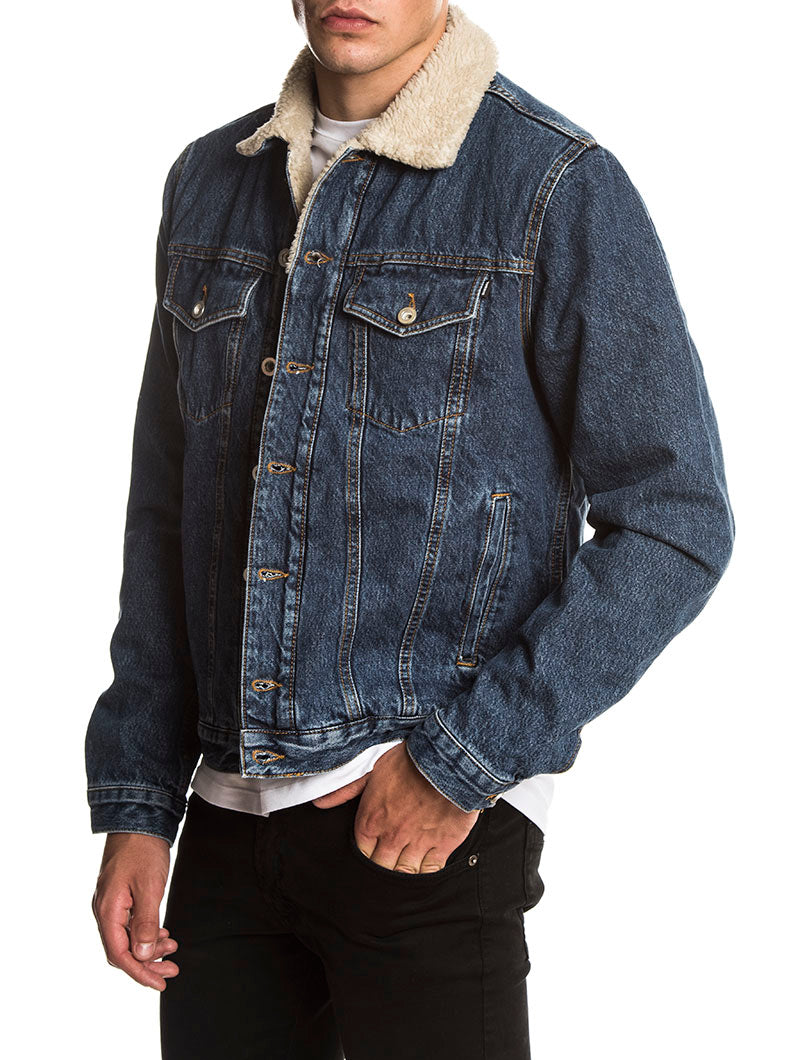 D-GIOC FOUR DENIM JACKET IN BLUE DENIM