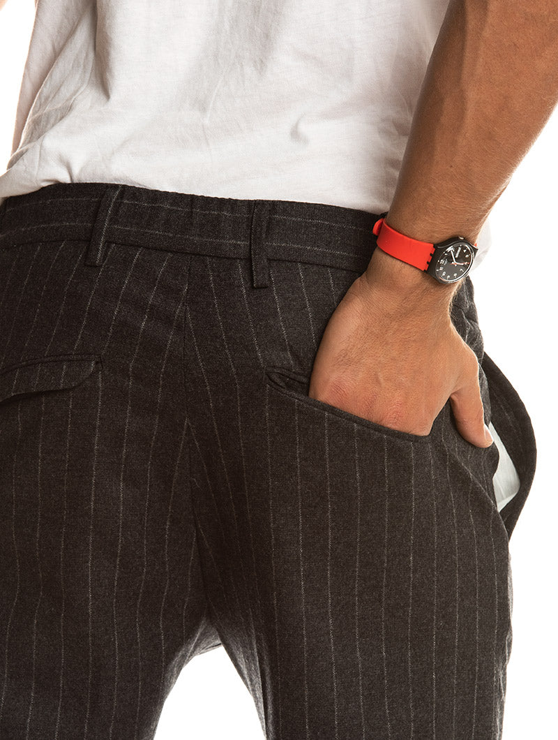 BARNEY FORMAL PANTS IN ANTHRACITE