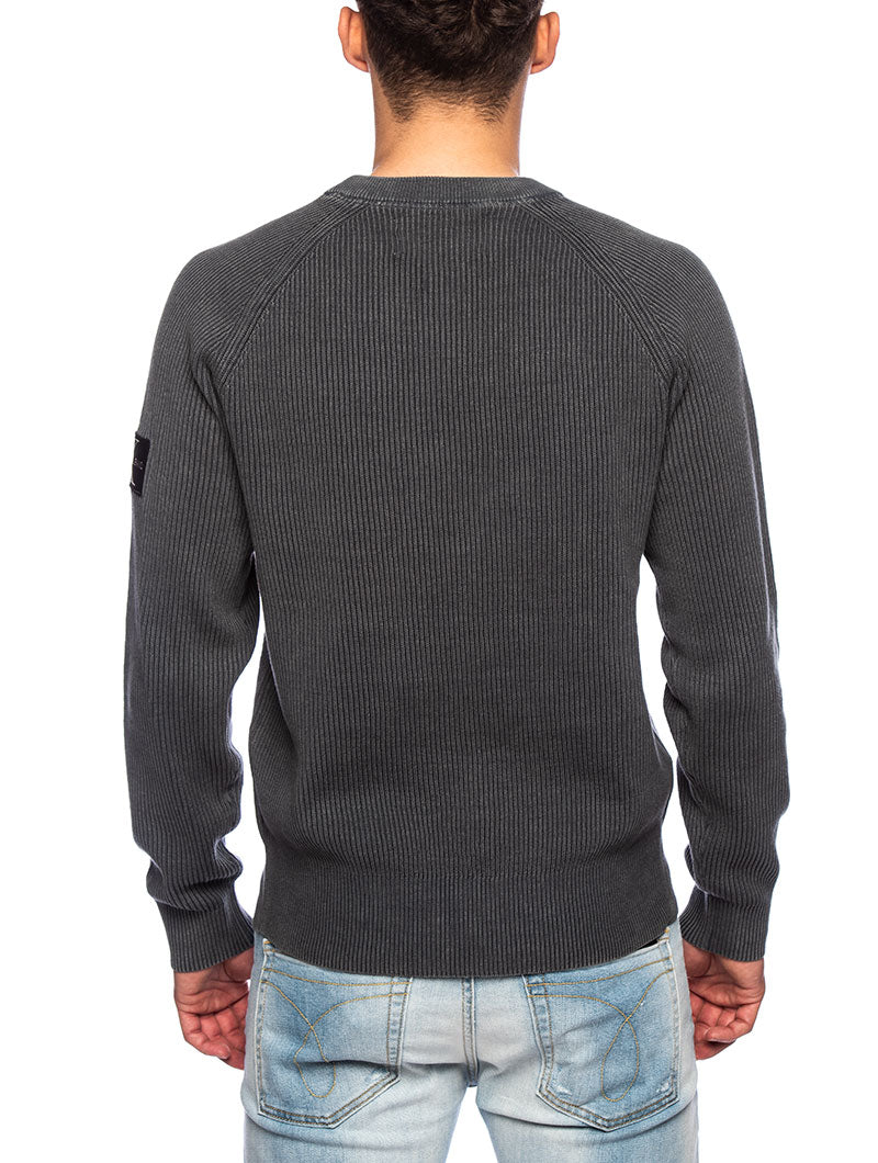 OVERDYED SWEATSHIRT IN GREY