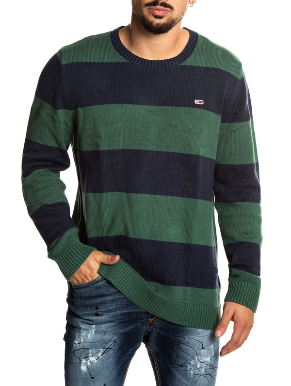 f2004167b72157 TJM TOMMY CLASSIC SWEATER IN BLUE AND GREEN · Tommy Hilfiger