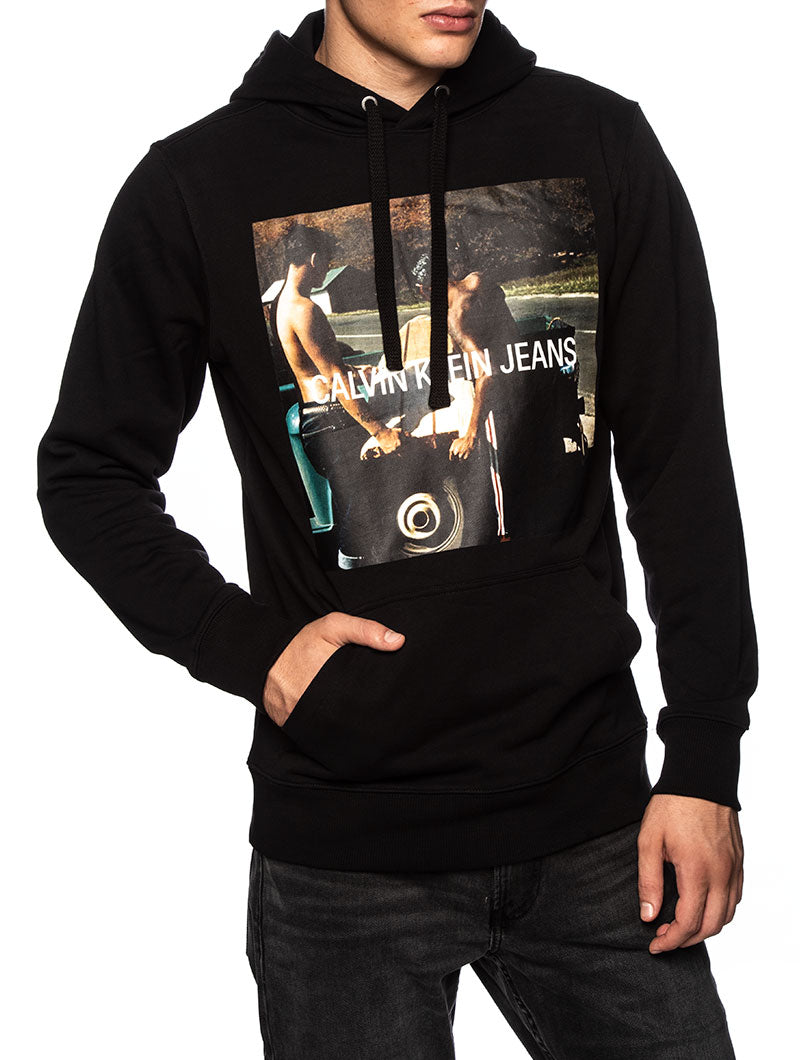 CK PHOTOPRINT HOODIES IN CK BLACK