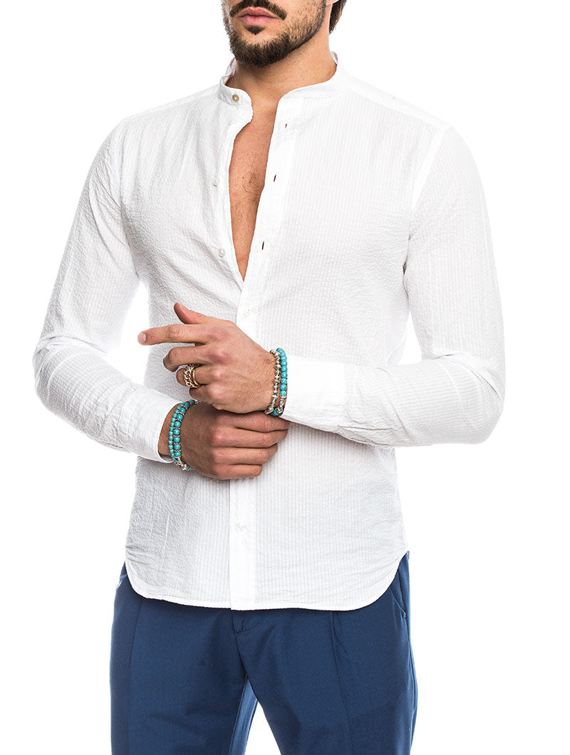 EOLO COTTON SHIRT IN WHITE