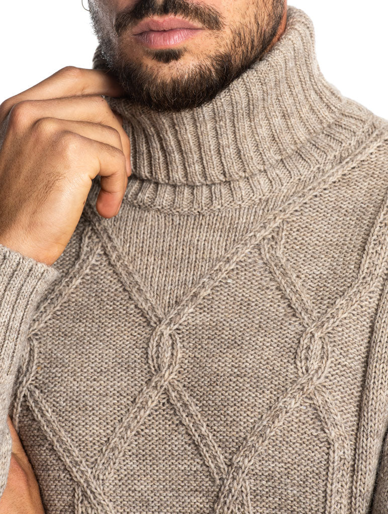 KANO ROLLNECK SWEATER IN BEIGE
