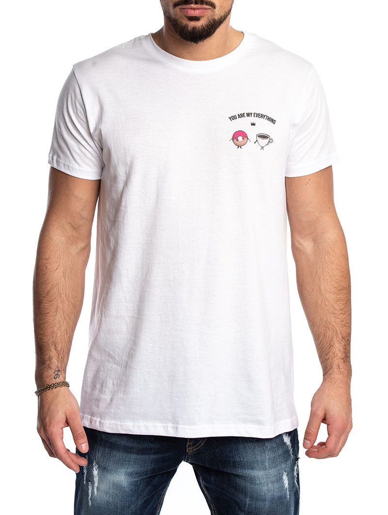 DONUTS T-SHIRT IN PINK AND WHITE