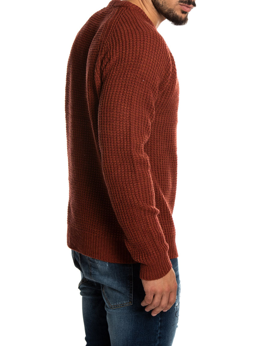 IRON Q3123 SWEATER IN DUSTY RED