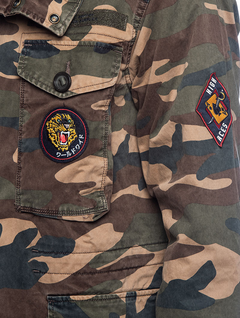 PATCHED FIELD JACKET IN CAMOUFLAGE