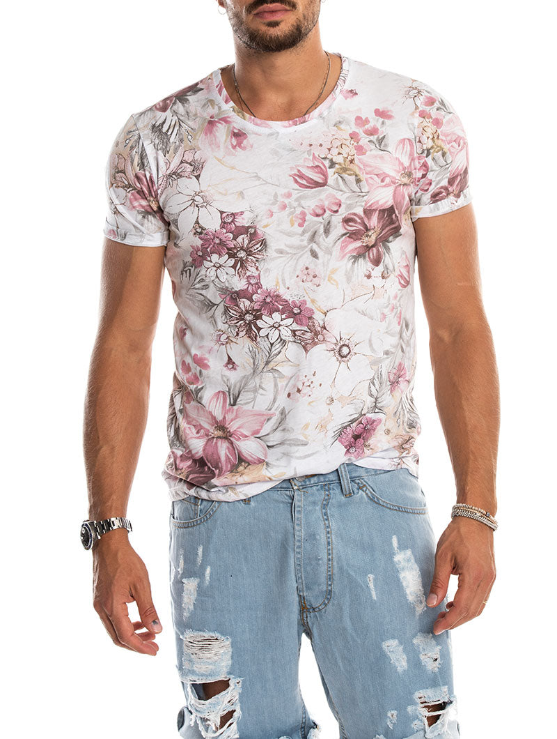 BEVERLY PRINTED FLOWER T-SHIRT