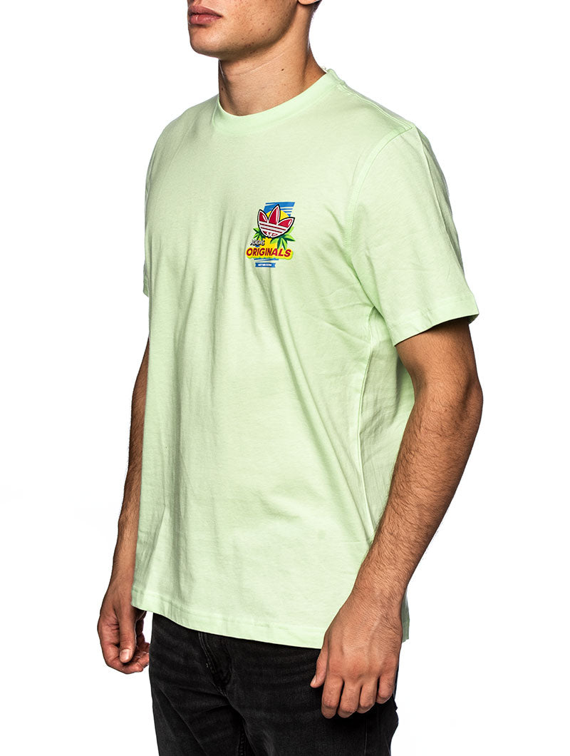 BODEGA POPSICLE PRINTED T-SHIRT IN LEMON GREEN