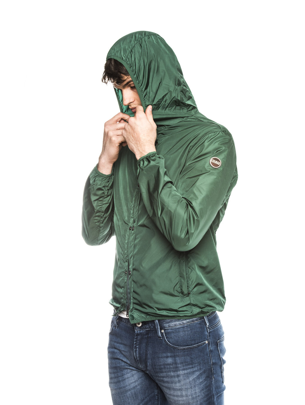COLMAR PACKABLE JACKET IN GREEN
