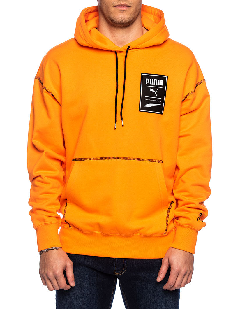 RECHECK PACK GRAPHIC HOODIE IN ORANGE