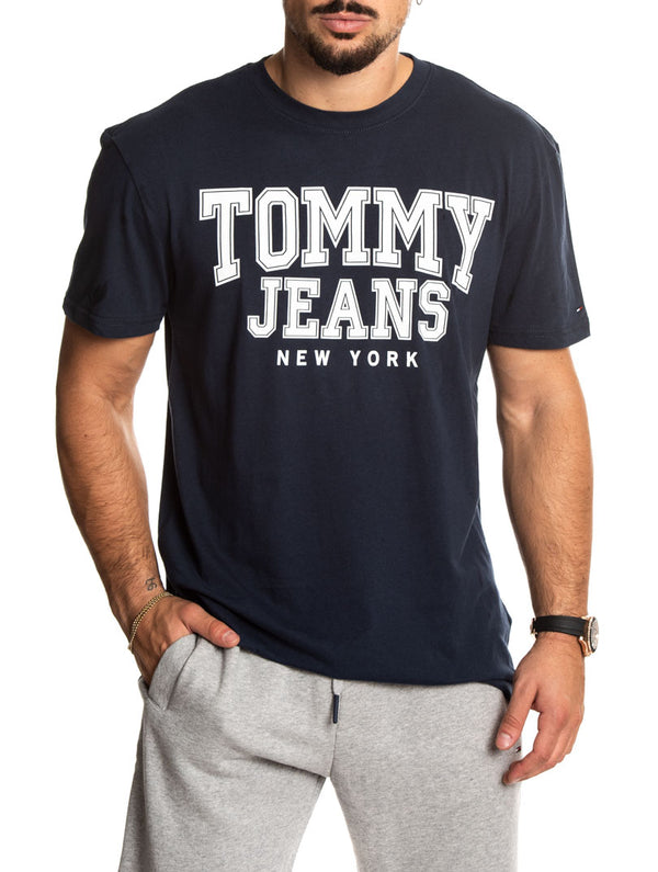 TJM ESSENTIAL COLLEGE TEE IN BLACK · Tommy Hilfiger f1a3da19249