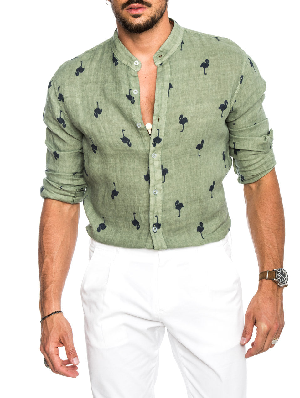 FLAMING SHIRT IN FOREST GREEN