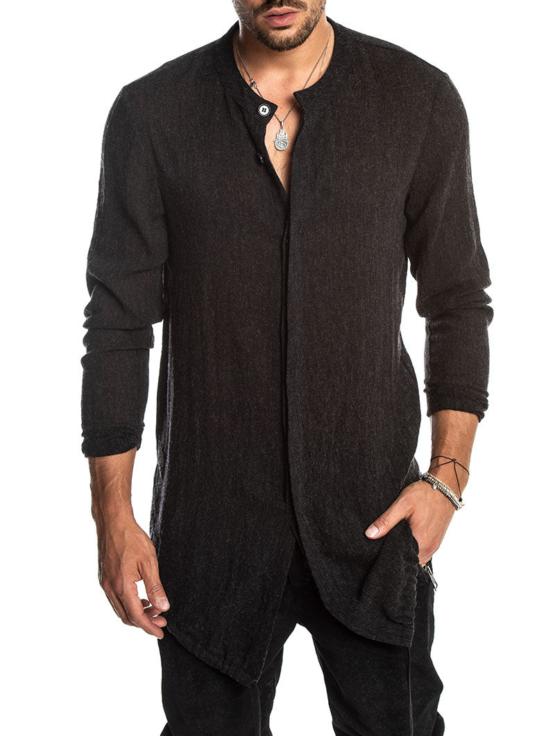 XANDER SHIRT IN ANTHRACITE