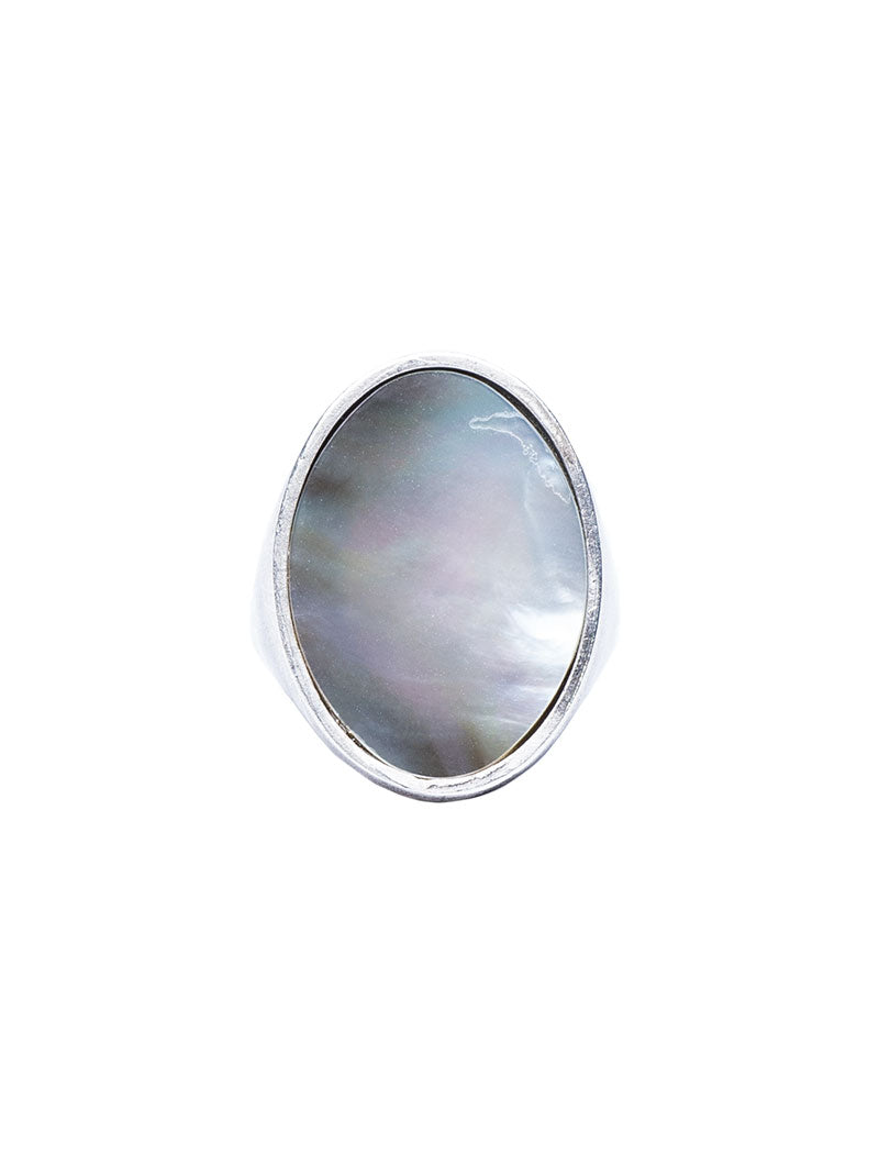 TUAREG OVAL NACRE RING