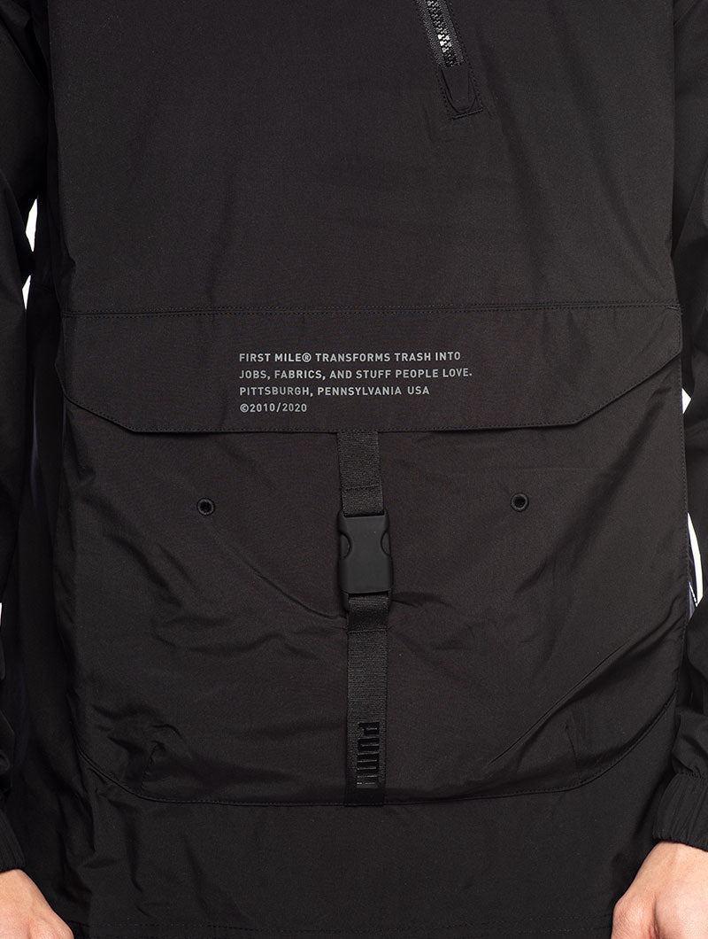FIRST MILE UTILITY TRACK JACKET IN BLACK