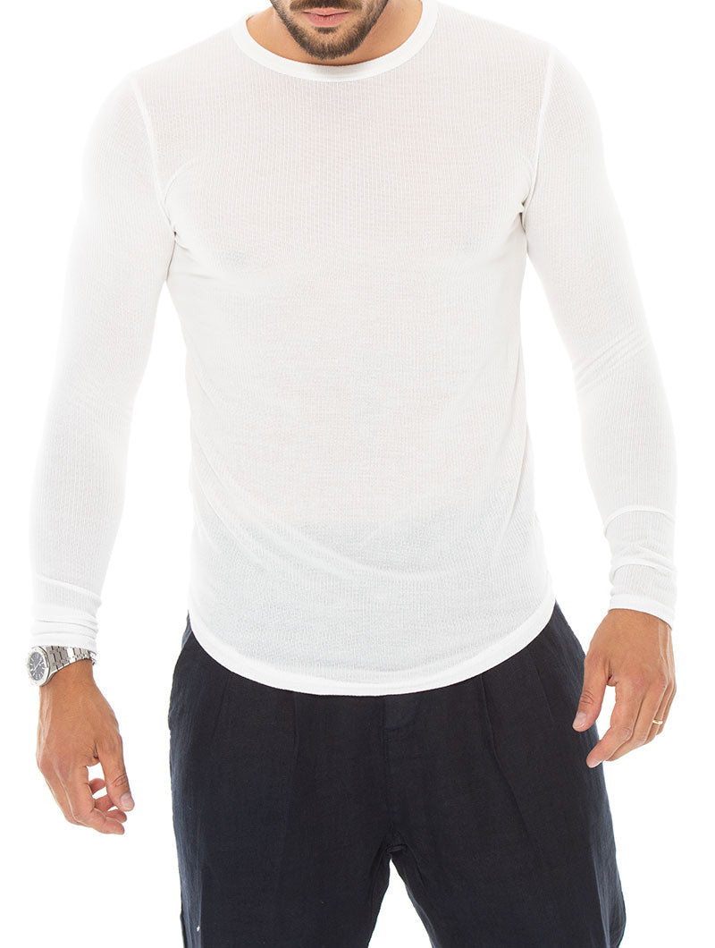 JUDE LONG SLEEVE T-SHIRT IN WHITE