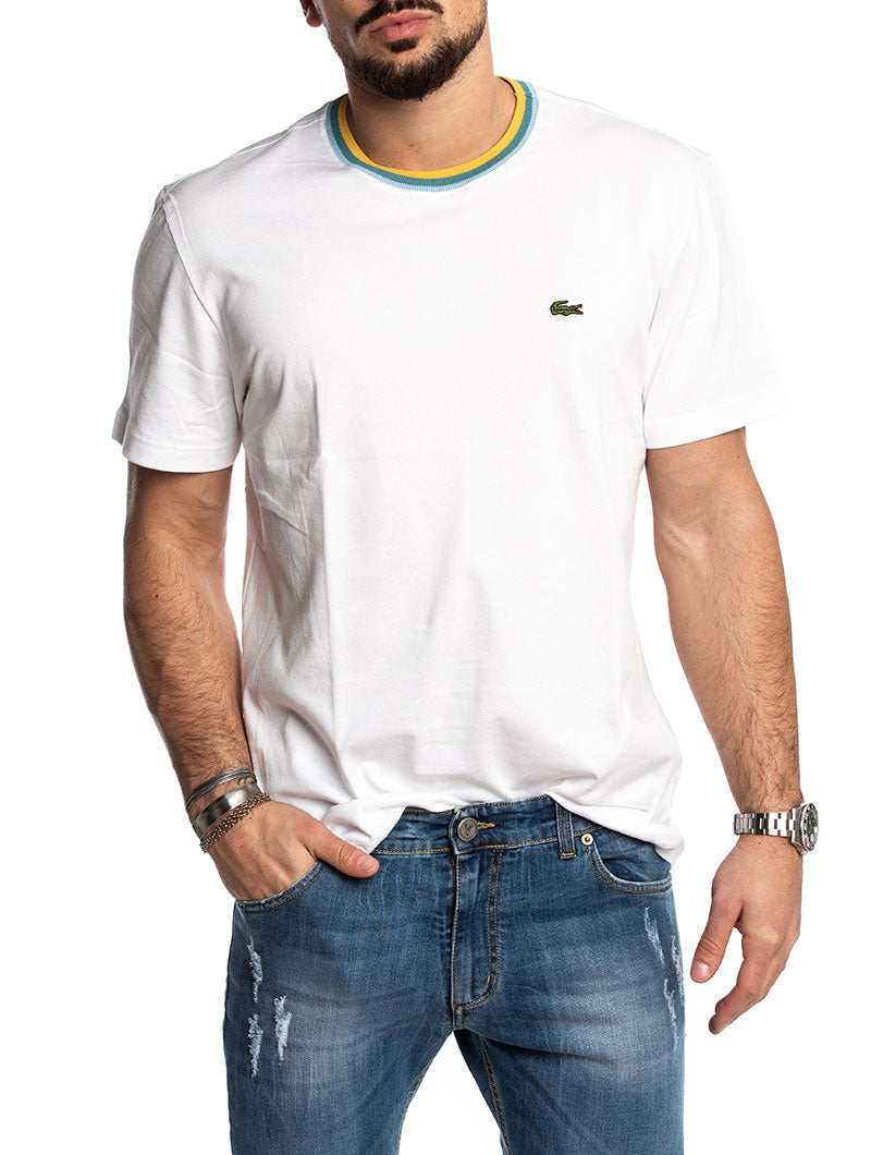 LACOSTE BASIC T-SHIRT IN WHITE